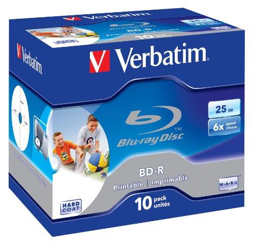 Price comparison product image Verbatim 10PK 25GB 6X BD-R Inkjet JC