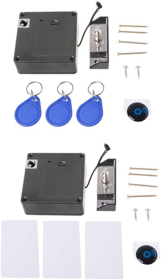 elektronisches RFID-Schloss f/ür Schubladen und Schr/änke mit Sensor schl/üssellos Aawsome unsichtbares Schlie/ßfach 3k