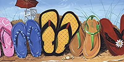 Scott Westmoreland Flip Flop Fence Tropical Beach Decorative Art Poster Print 12x24