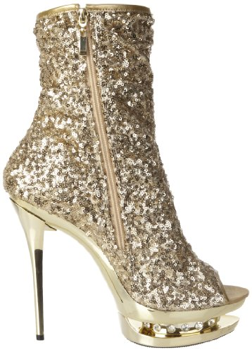 Pleaser Blondie R 1008, Botines para Mujer Dorado - Gold (Gold Sequins/Gold Chrome)