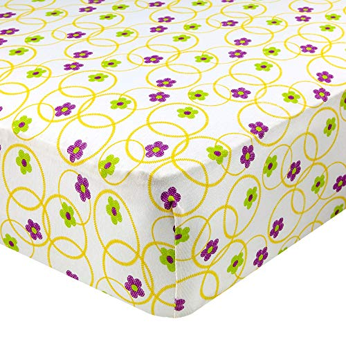 Abstract Floral Jersey - Abstract Fitted Crib Sheet for Standard and Full Size Cribs and Toddler Beds - 28
