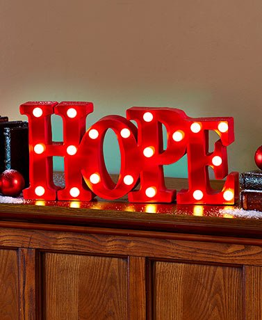 Celebrity Holiday Red Lighted Holiday Marquee Signs Decorations Joy Hope Noel Perfect for Christmas Newyears And Thanksgiving. (Hope) Outdoor Christmas Decorations Joy Sign