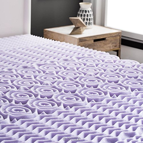 LUCID 2 inch 5 Zone Lavender remembrance Mattress Toppers