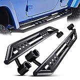AUTOSAVER88 Side Armors Compatible for 2007-2018 Jeep Wrangler Jk 4 Door Side Step,Nerf Bars,Running Boards,Textured Black-Powder Coating Finishing (Excl 2018 JL Models)