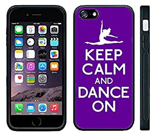 Apple iPhone 6 Black Rubber Silicone Case - Keep Calm and Dance Toe Pointe Ballet Ballerina