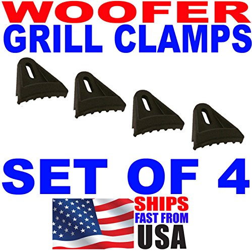 4pc Set Sub Woofer Speaker Grill Clips Subwoofer Clamps from Generic