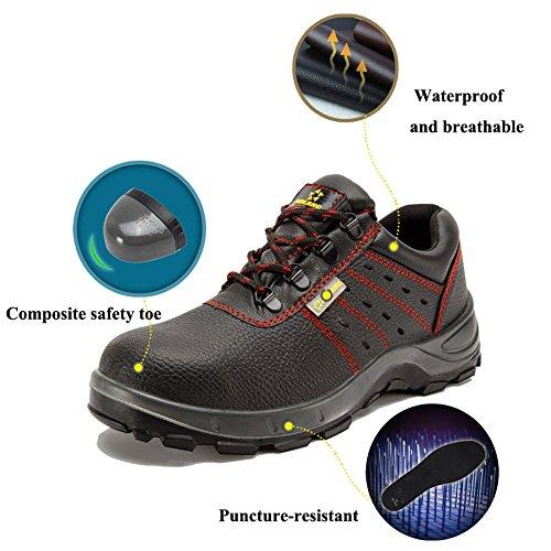 PANCY Leather Work Waterproof Toe Steel Men's Shoes Breath A004 Safey rrFqwx