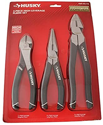 Husky 3-piece High-leverage Pliers Set