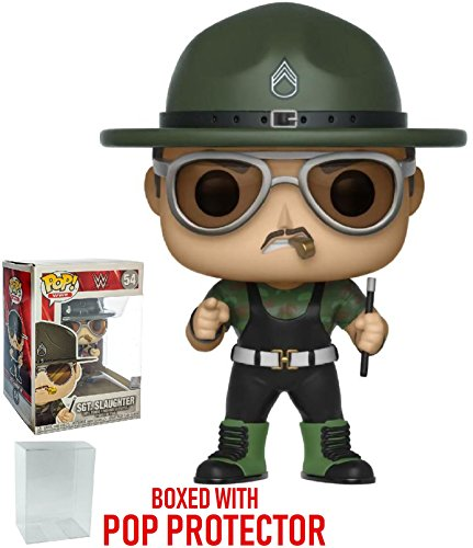 Funko Pop! WWE: Sgt. Slaughter Vinyl Figure (Bundled with Pop Box Protector Case) by Funko