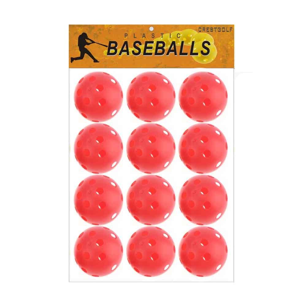 CRESTGOLF Plastic PickleBalls Baseballs 12pcs Count (Blue)