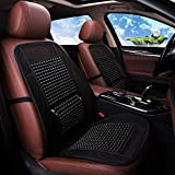 Cushion Car Seat Cushion Pad - Breathable Mesh Wood Bead Seat Cover - Massage Lumbar Pillow - 2PCS Front Seat Cover Cushion (Color : B)