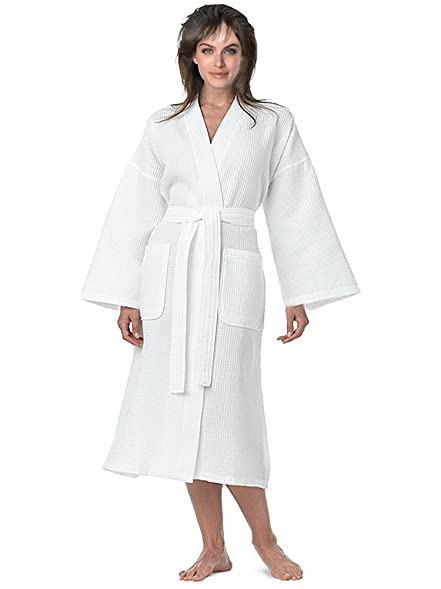ae426ba9be7 Lightweight Waffle Kimono Robe Women s Men s Waffle Kimono Bathrobe ...