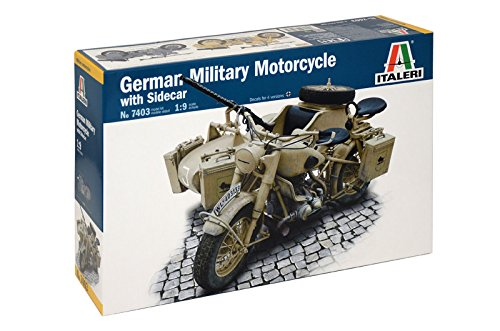 1 opinioni per Italeri 7403- German Milit.Motorcycle With Sidecar Model Kit Scala 1:9