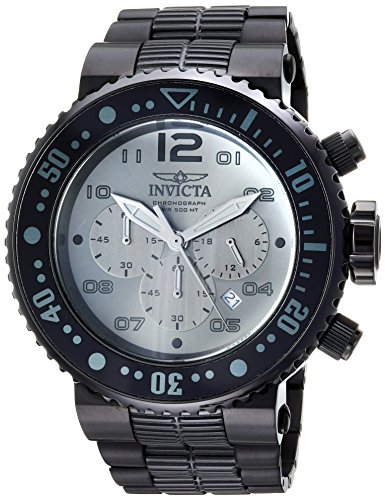 Invicta Men's 'Pro Diver' Quartz Stainless Steel Diving Watch, Color:Black (Model: 25079) ()