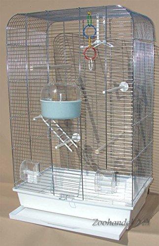 Pájaro jaula cacatúas Chrome blanca Carcasa Periquito jaula ...