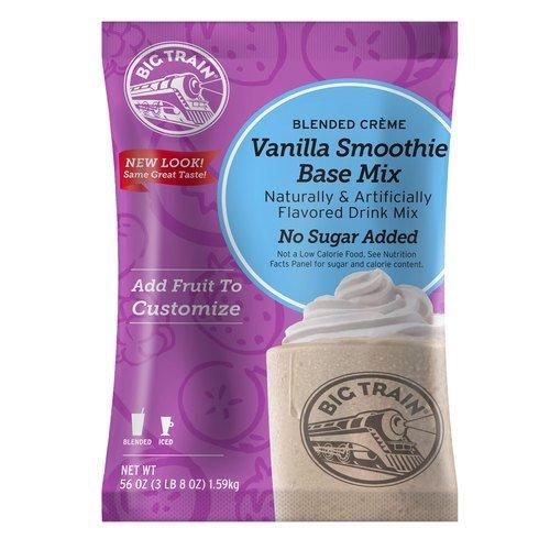 Big Train Vanilla No Sugar Added Smoothie Mix - 3.5 lb. Bulk Bag ()