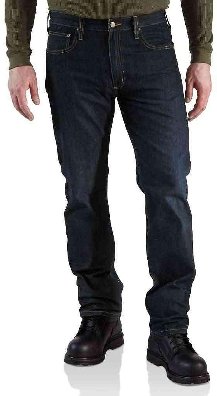 Carhartt Staight Fit Straight Leg Jeans Weathered Indigo 31R,32R,33R,34R,36R,38R Mens