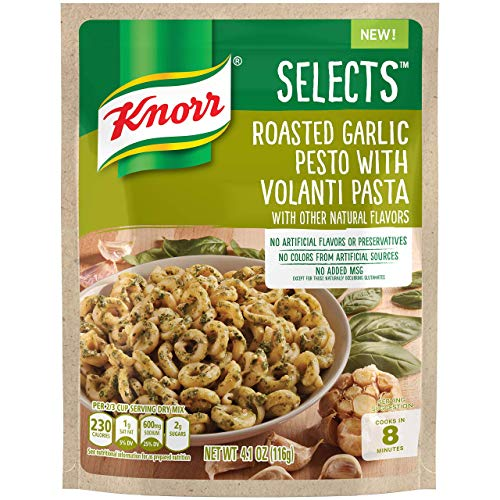 Knorr Selects Pasta Side Dish, Roasted Garlic Pesto with Volanti Pasta, 4.1 oz, Pack of -