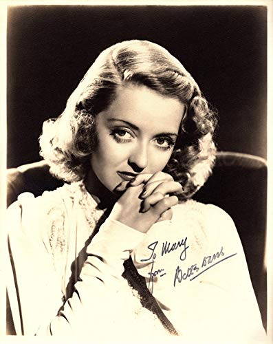 - BETTE DAVIS Autographed Vintage Hand SIGNED 1940's Vintage 8x10 Photo w/LOA Vintage Hollywood What Ever Happened To Baby Jane