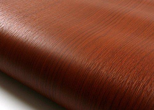 Embossed Wood - ROSEROSA Peel & Stick Backsplash Embossed Cherry Wood Self-Adhesive Wallpaper Shelf Liner Table Door Reform (PF4007-2 : 2.00 Feet X 6.56 Feet)