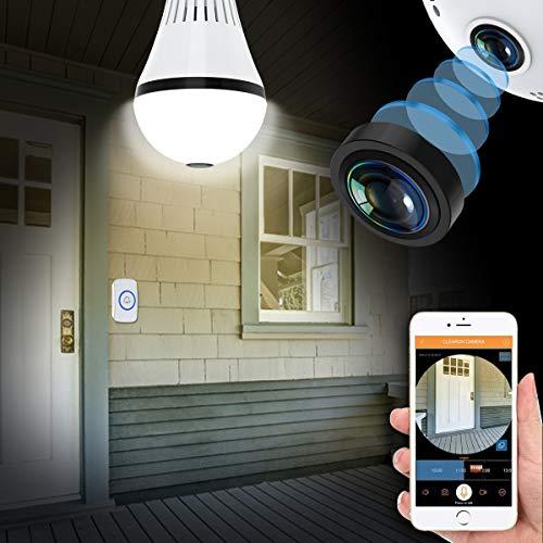 Video Doorbell Wifi Light Bulb Camera Normal Porch Light