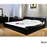 Greatime B1070 Contemporary Upholstered Bed (Queen, Black)