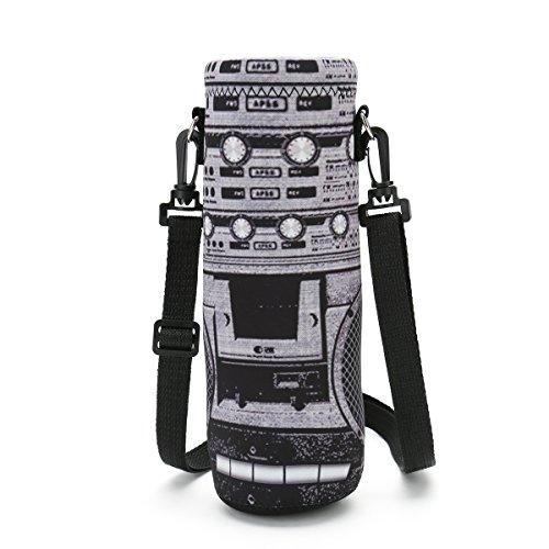 ICOLOR 1L Water Bottle Carrier Holder Sleeve 34oz (1000 Milliliter) w/Adjustable Shoulder strap,Sling insulated Outdoor Sports Bottle Bag Case Pouch Cover,Fits Bottle Diameter less 3.34