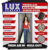 Magnetic Screen Door New Patent Pending Design Full Frame Velcro & Fiberglass Mesh Not Polyester This Instant Retractable Bug Screen Opens and Closes Like Magic It's The Last Screen You'll Need