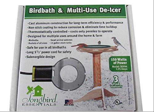 [해외]Songbird Essentials SE994 버드 바스 & amp; /Songbird Essentials SE994 Bird Bath & Multi-Use De-Icer (Set of 1)