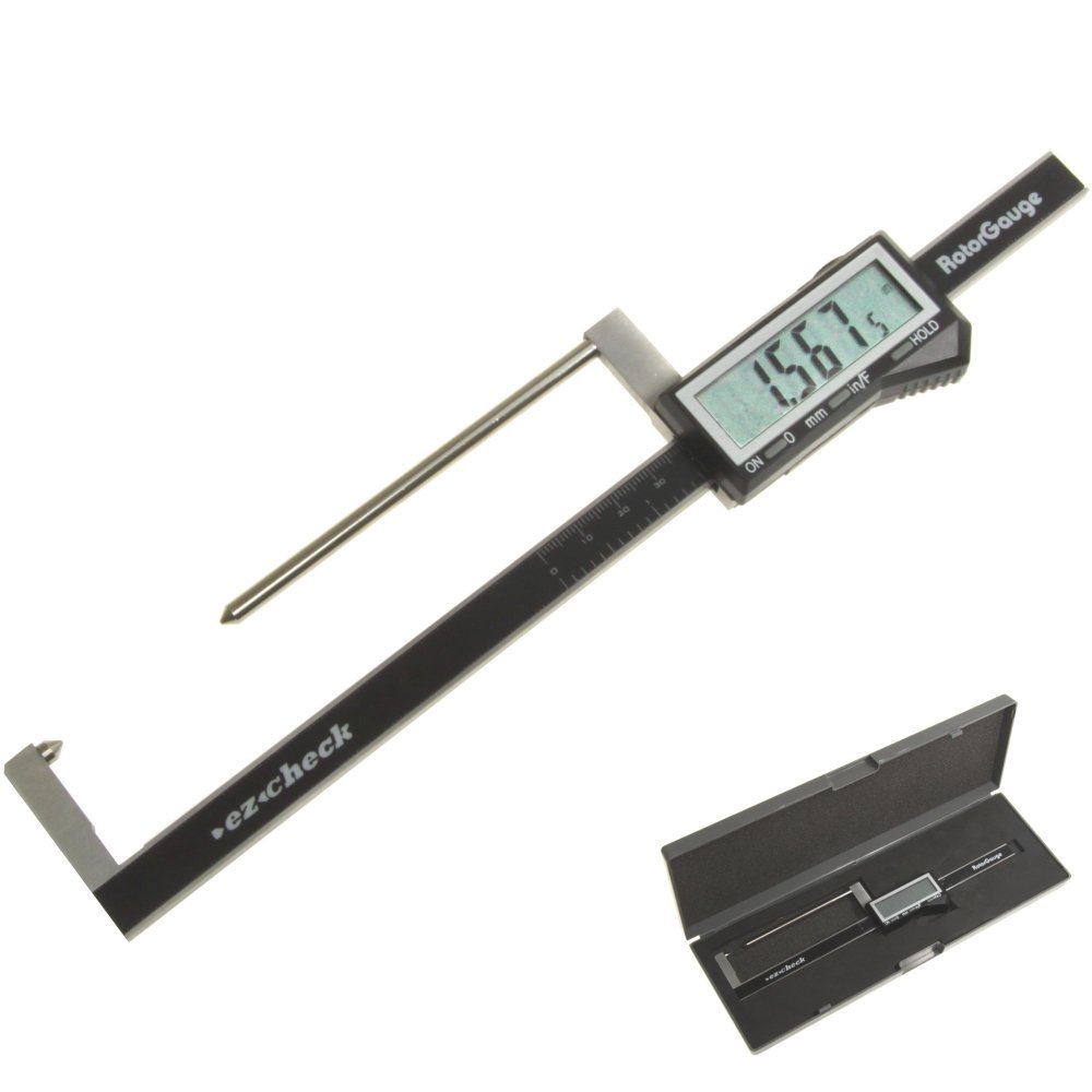 iGaging 100-048 Brake Rotor Gauge Wheels On Large Digital Electronic Display Caliper