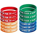 Amscan Football Attitude Birthday Party Bracelet Favor, Multicolor, 2 1/2""