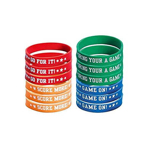Amscan Football Attitude Birthday Party Bracelet Favour, Plastic,