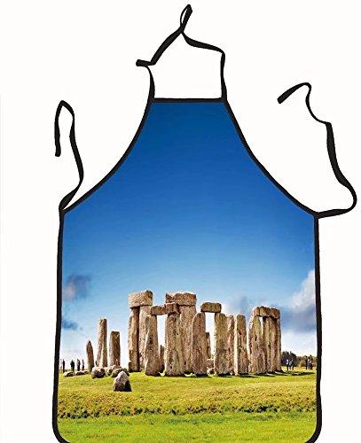chanrancase tailored apron stonehenge england uk Children, unisex kitchen apron, adjustable neck for barbecue 17.7x26.6+10.2(neck) INCH