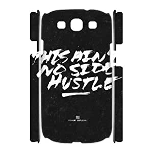3D Samsung Galaxy S3 Case 't no Side Hustle, Typography Dustin, {White}