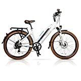Magnum Ui5 Electric Hybrid City Bike – 350W Motor, Large Capacity 36V13A – Lithium Battery – Rear Rack (White) Review