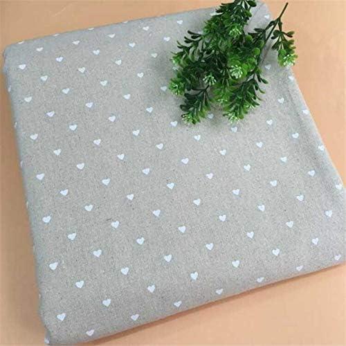 DONG Tela de Lino de algodón Material de Lienzo Impreso en Forma de corazón Lino Algodón Patchwork Tela Tela de Costura para Textiles para el hogar, Estilo B, 100x150cm: Amazon.es: Hogar