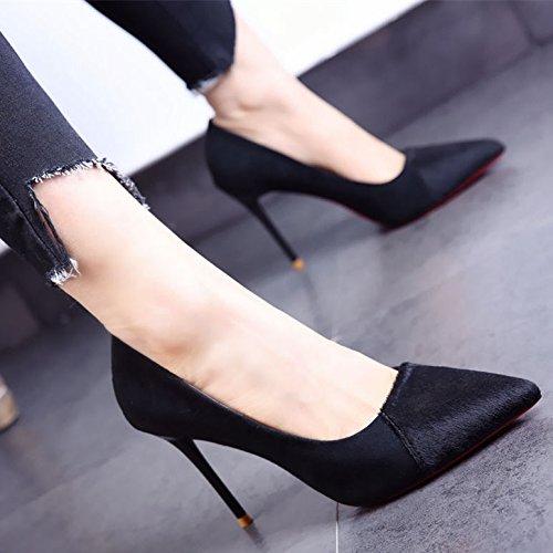 FLYRCX Europäischen Frühling und Herbst Herbst Herbst High Heel Schuhe Frauen mit sexy Persönlichkeit Schuh Arbeitsschuhe schwarz c578da