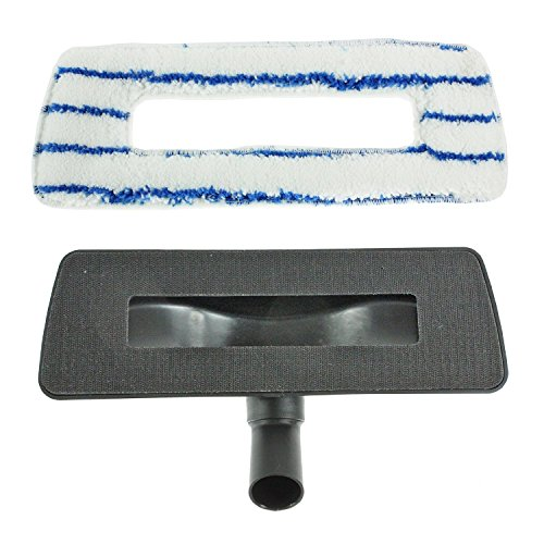 Spares2go Hard Floor Brush Head & washable Cloth For Victor Vacuum Cleaners (White & Blue, 35mm)