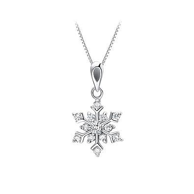 7abd6e4e518947 [比翼堂] レディース ネックレス 雪結晶 アクセサリー スワロフスキー 「 最高 に 輝く 雪の