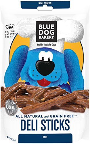 Blue Dog Bakery | Deli Stick Dog Treats | All-Natural | Grain-Free | Beef | 7.8oz (Pack of 1)