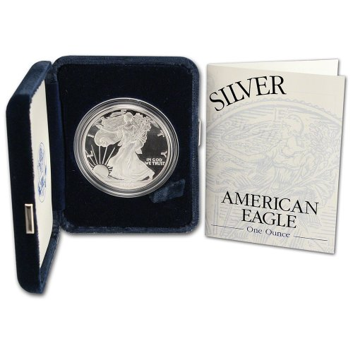 2002 W American Silver Eagle Proof $1 OGP U.S. Mint