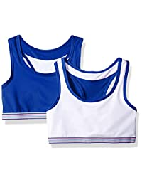Hanes Girls Big Girls Comfort Flex Fit Wide Strap Seamless Racerback 2-Pack