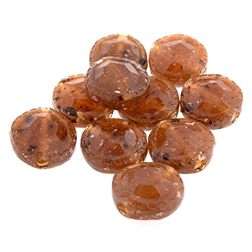(Faceted Candy Shape Crafting Bead -20mm (Dia) - Nylon Material - Natural Colour Amber)