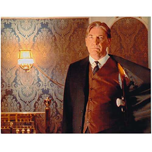 David Warner as Spicer Lovejoy in Titanic Standing Looking Serious One Arm Extended Out 8 x 10 Inch Photo