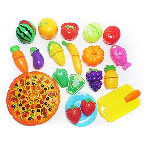 Jugar Comida 24 Piezas Diversion Cortar Frutas Verduras Alimentos