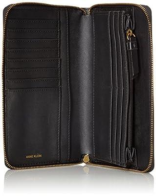 Anne Klein V-Pocket Zip Around Wallet