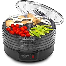 Upgraded 2017 NutriChef Food Dehydrator Machine - Professional Electric Multi-Tier Food Preserver, Meat or Beef Jerky Maker, Fruit & Vegetable Dryer with 5 Stackable Trays