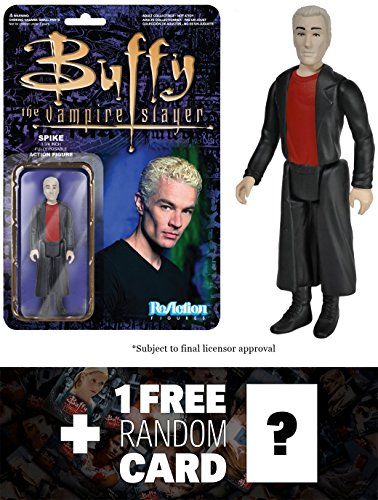 Spike: Funko ReAction x Buffy The Vampire Slayer Action Figure + 1 FREE Official Buffy the Vampire Slayer Trading Card Bundle (039578)
