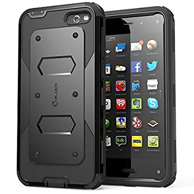 i-Blason Amazon Fire Phone Case - Armorbox Dual Layer Hybrid Full-body Protective Case with Front Cover and Built-in Screen Protector / Impact Resistant Bumpers