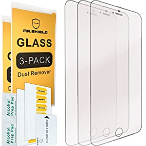 [3-PACK]-Mr Shield For iPhone 6 / iPhone 6S [Tempered Glass] Screen Protector with Lifetime Replacement Warranty by Mr Shield